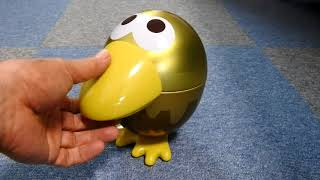 森永製菓のチョコボール、金なら1枚、銀なら5枚!エンゼルのくちばしを集めてもらおうの「おもちゃのカンヅメ」、今度のカンヅメは、しゃべりだす!?おしゃべりな金のキョロ ...