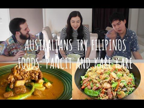 Australians Try Filipino Foods: PANCIT & KARE KARE | Tagalog Tuesdays