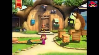 Маша и медведь школа видеоигра для детей Учимся считать