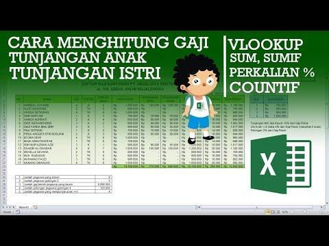 Cara Menghitung Gaji Karyawan di Excel dengan Tunjangan ...