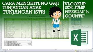 Cara Menghitung Gaji Karyawan Di Excel Dengan Tunjangan