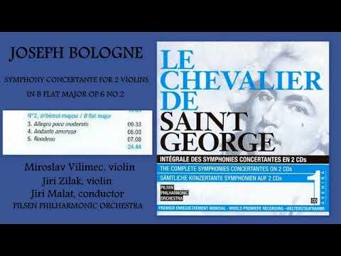 Joseph Bologne, Chevalier de Saint Georges: Symphony Concertante in B-flat major, Op.6, No.2