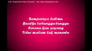 JANGAN MENANGIS SAYANG ~ Safura ft Oney (Lirik)