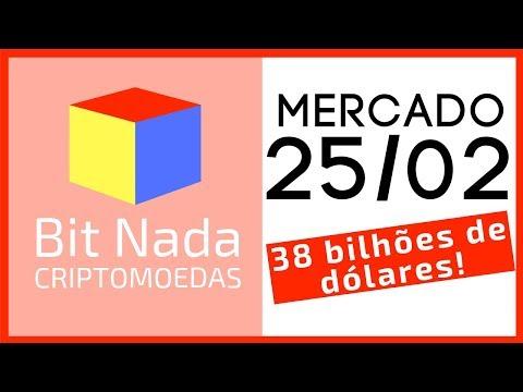 Mercado de Cripto! 25/02 O MAIOR VOLUME DO ÚLTIMO ANO! / BTC / TRX / ETH / Exchanges Brasileiras