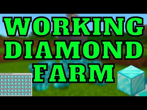Working Diamond Farm In Minecraft Bedrock Edition 1.16.201 Ps4/MCPE/Ps5/Switch/Xbox/Windows10!!!