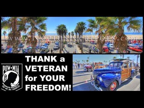 Surf City Veterans Day Car Show In Huntington Beach, California!!!