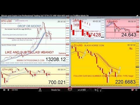 Bitcoin Crypto Trading Room 24/7 Ethereum Litecoin Xrp Tron Iota Nem Waves Cardano Stellar Chat On