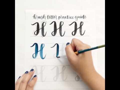 Brush lettering uppercase h youtube