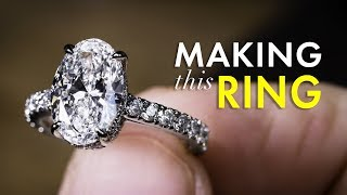 Platinum Diamond Ring - How They Are Made by Hand