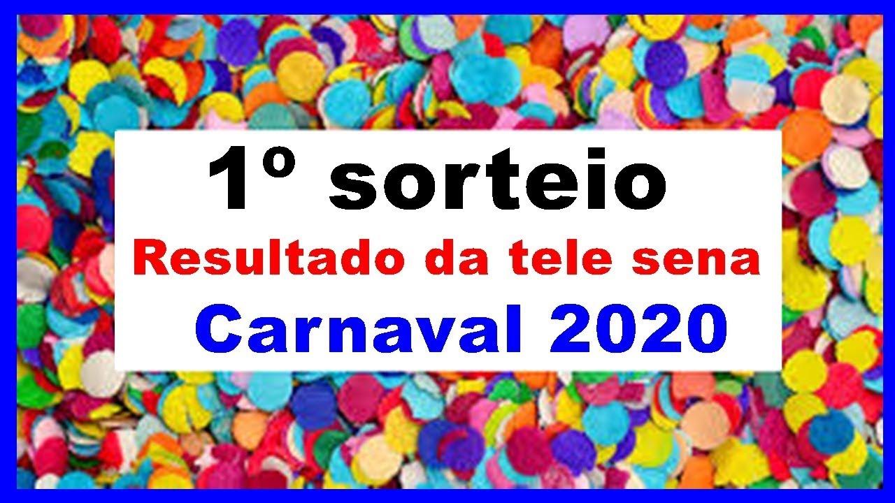 Sorteio da tele sena de carnaval 2020