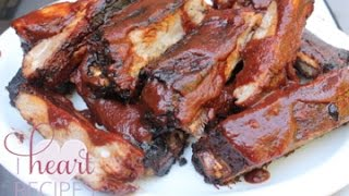 St. Louis Style Pork Ribs With Hickory & Brown Sugar Bbq Sauce Recipe - I Heart Recipes