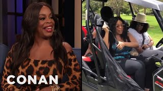 Niecy Nash Went On A Terrifying Buggy Ride With Oprah - CONAN on TBS