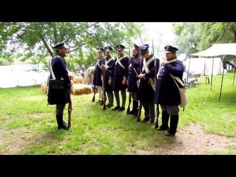 Minden - Westfälische Landwehr bei einer Exerzierübung um 1813; Mindener Zeitinseln 15./16.6.2013