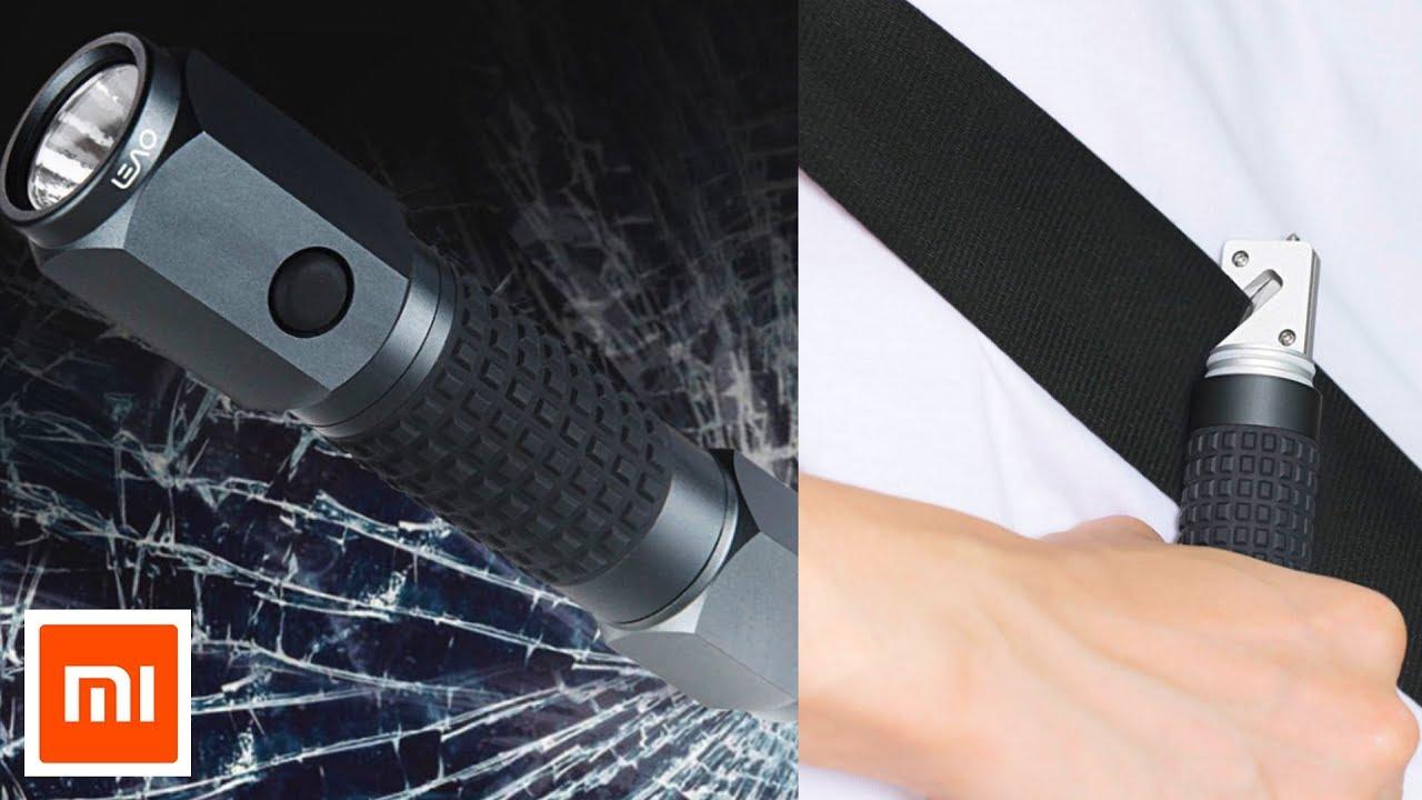Xiaomi LEAO Flashlight Waterproof Torch Car Emergency Window Breaking Hammer