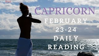 "CAPRICORN SOULMATE ""ORGANIZED CHAOS LOVE YOU DESERVE"" FEB 23-24 DAILY TAROT READING"