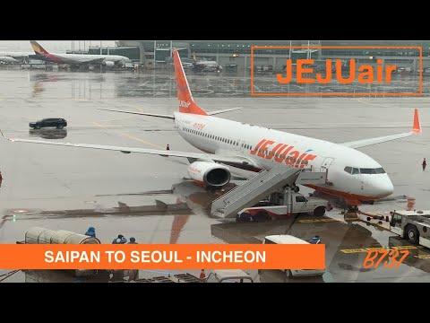 JEJU AIR - ECONOMY | SAIPAN TO SEOUL INCHEON | B737 | LOUNGE ACCESS | TRIP REPORT