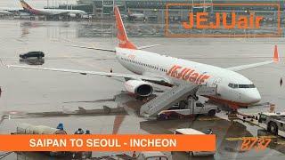 JEJU AIR - ECONOMY   SAIPAN TO SEOUL INCHEON   B737   LOUNGE ACCESS   TRIP REPORT