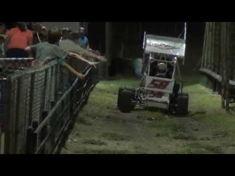8-23-2014 Gulf Coast Speedway Heat Race 2