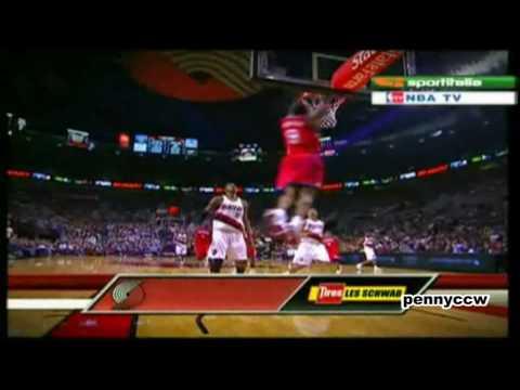 Allen Iverson 19pts vs Brandon Roy Portland Trailblazers 09/10 NBA *Circus Shot