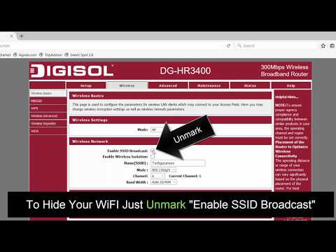 How To Disable SSID Broadcast (wifi) From Others?