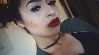 NATURAL SPRING FAUX FRECKLE WITH RED LIP (LIMECRIME)  | Reena.MayyBeauty