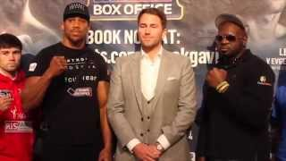 ANTHONY JOSHUA & KEVIN JOHNSON / EDDIE HEARN / RYDER / HIBBERT/ RYAN / CARDLE / BLACKWELL / RIED