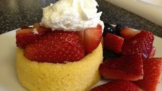 Weight Watchers Recipe - Strawberry Shortcake Dessert! Quick And Easy! 3 Point Dessert!