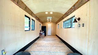 School Bus Conversion Episode 16 - She's beginning to look like a house!