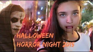 Spend the Night with me at HHN | Vlog