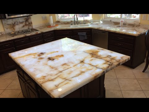Lighted kitchen cabinets