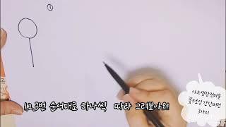 꽃드로잉 1단계모음 -아트샘장전미술