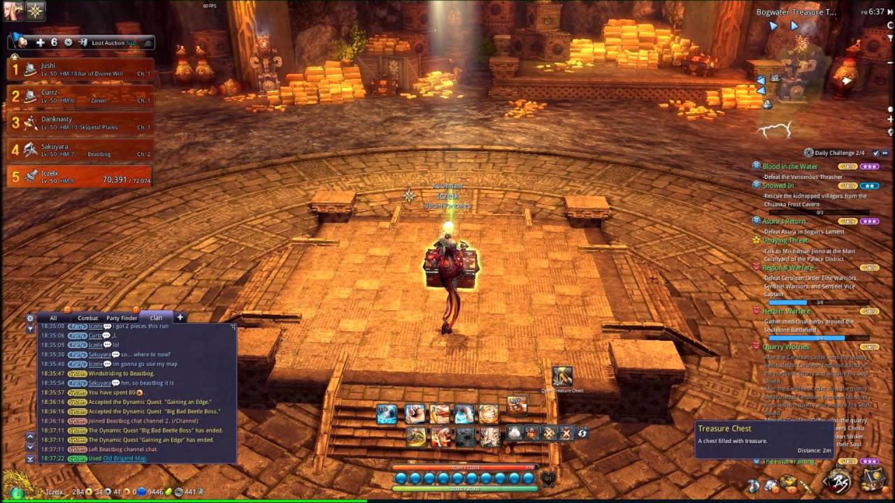 Blade and Soul - Bogwater Treasure Trove via Old Brigand Map & Beast ...