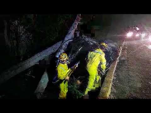 Las primeras imágenes del rescate de Fito Zelaya y su famila, tras aparatoso accidente