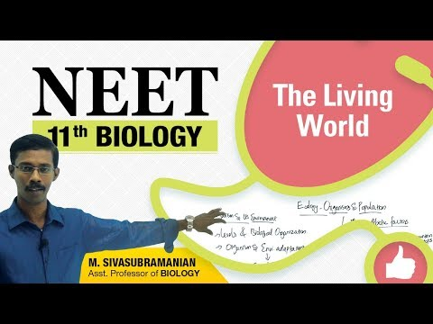 NEET 11th Biology || The Living World  || Diversity in the Living World || Unit-1
