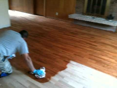 Remaflooring Gunstock Stain Color Youtube
