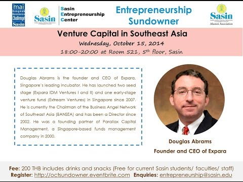 SEC Sundowner: Venture Capital in Southeast Asia by Douglas Abrams (15.10.2014)