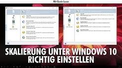 Windows 10 Tipp: Skalierung richtig einstellen
