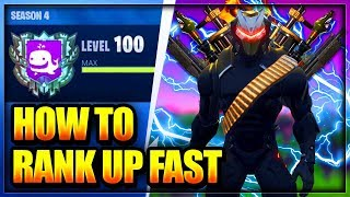 Fortnite: HOW TO RANK UP FAST IN BATTLE ROYALE (Level up faster Glitch & get tier 100 in season 4)