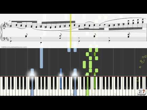 Learn Canon In D Sheet Music By Johann Pachelbel - Keyboard Practice Video