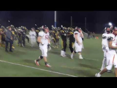 End of game Spalding/St. Frances football 10/28/16