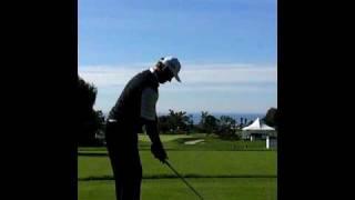 PGA Tour - Ernie Els - Torrey Pines Golf Swing Iron Shot Par 3 Long Iron