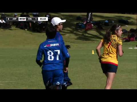 WFDF World Under 24 Ultimate Championship: Japan vs Colombia - Women's