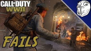 Call of Duty WWII Fails & Funny Moments #4: Crazy Nades & Drunk V2 Rocket!