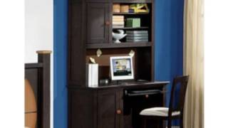 Allstar 55 W Computer Desk With Hutch Sport: Baseball