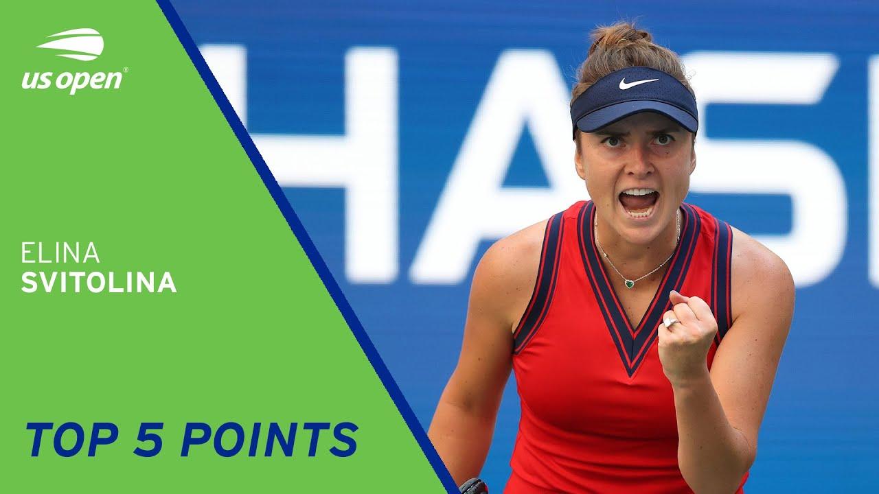 Elina Svitolina | Top 5 Points | 2021 US Open