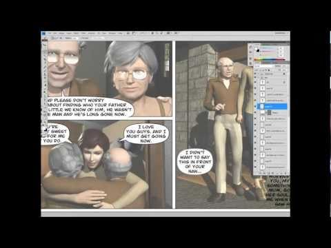 Using 3d software to make a comic.