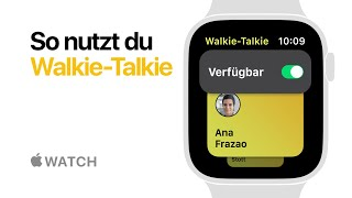 Apple Watch Series 4 – So nutzt du Walkie-Talkie – Apple