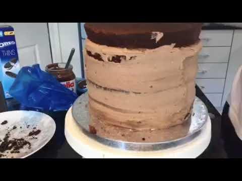 Chocolate Nutella and Oreo birthday cake YouTube
