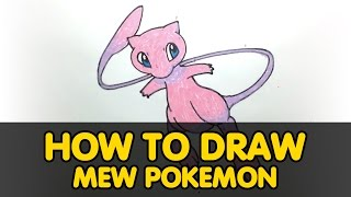 How to draw Mew Pokemon GO? Step by step. ALL FOR KIDS CHANNEL
