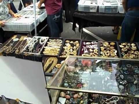 Maywood Street Fair, Maywood NJ Flea Market Set Up - 8/19/2012